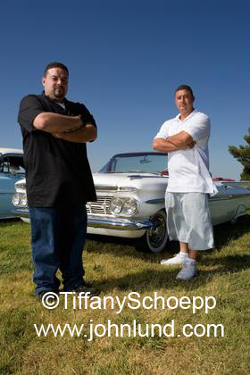 Hispanic Men With Their Low Rider Cars